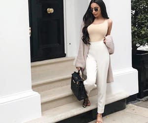 beige, clothes, and dress image