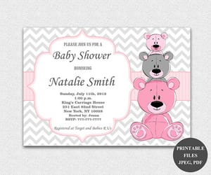 etsy, its a girl, and baby shower invitations image