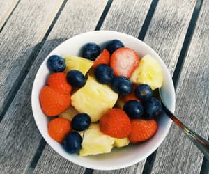 blueberry, food, and FRUiTS image