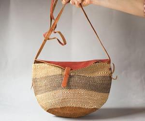 etsy, ethnic bag, and vintage sisal bag image