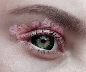 eye, roses, and make up image