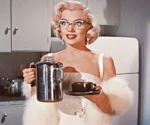 Marilyn Monroe and coffee image
