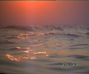 soft pink, sunset, and sea image