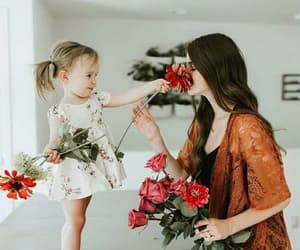 child, flowers, and love image