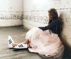 girls, sneakers, and tumblr goals image
