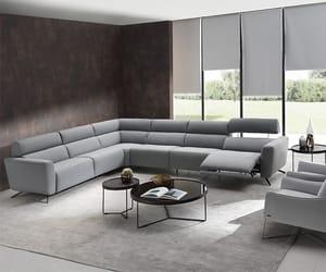 leather sofa, fabric sofa, and natuzzi editions image