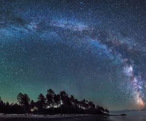 stars, night, and galaxy image