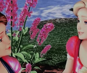 barbie, header, and flowers image