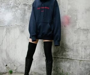 boots, hoodie, and girl image
