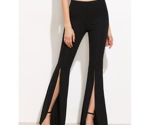 black pants, summer, and bottoms image