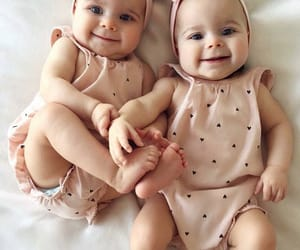 baby, beautiful, and sister image