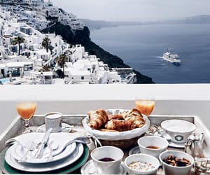 breakfast, view, and white image