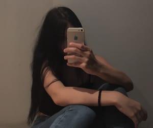 black hair, feed, and girl image