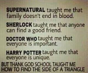 supernatural, doctor who, and harry potter image