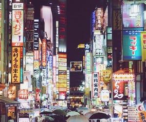 city, lights, and tokyo image