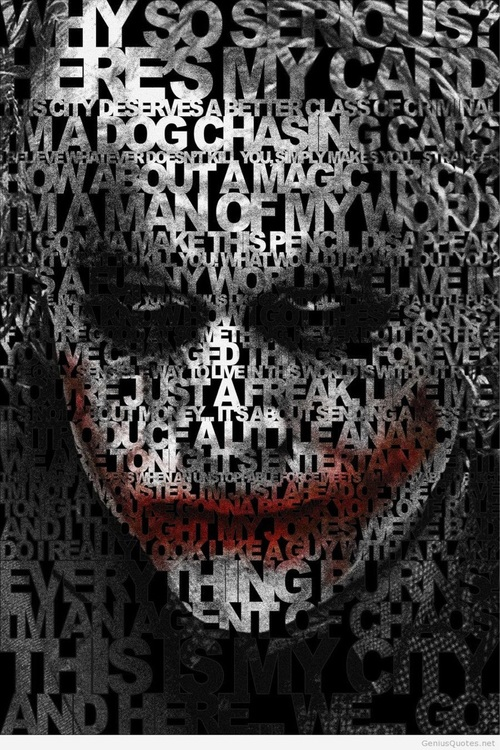Best Joker Quotes Best Joker Quotes (The Dark Knight) on We Heart It Best Joker Quotes