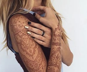 tattoo, henna, and girl image