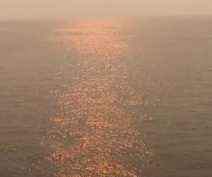 sunset, ocean, and orange image
