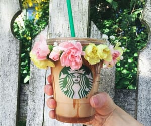 garden, spring, and coffee image