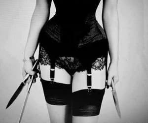 knife, corset, and sexy image