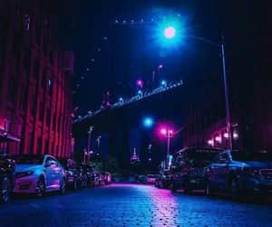 aesthetics, city, and purple image