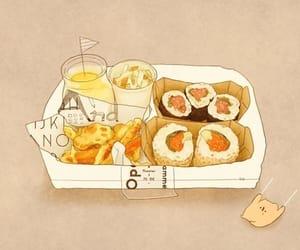 food, anime, and sushi image