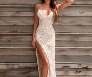 evening dresses, side slit, and sexy evening dresses image