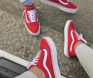 red, fashion, and vans image