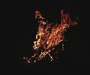 dark, sad, and fire image