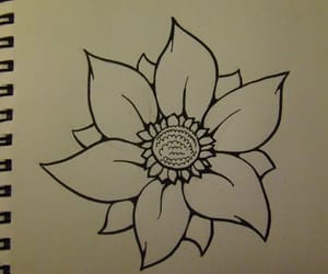 drawing, Easy, and flower image