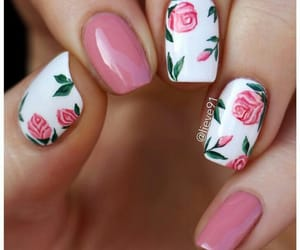 nails, rose, and art image