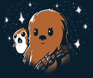 star wars, chewbacca, and porgs image