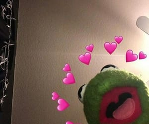 kermit, meme, and hearts image