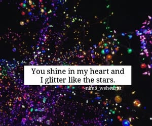 beautiful words, couples, and glitter image
