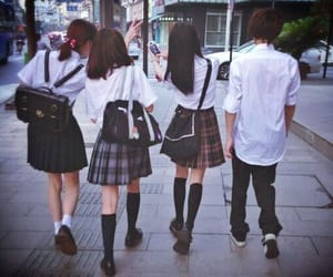 japan, school, and friends image