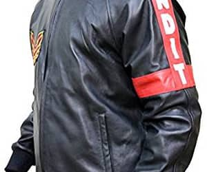 lovers, black leather jacket, and mens clothing image