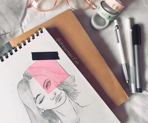 drawing, journal, and sketch image