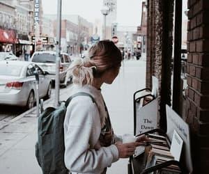 girl, fashion, and book image