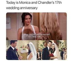 chandler, monica, and friends image
