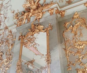gold, mirror, and architecture image