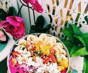 food, flowers, and summer image
