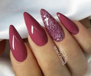 nails, beautiful, and long image