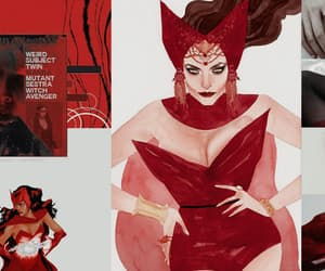 aesthetic, Marvel, and red image