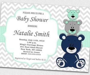 etsy, girl baby shower, and bear baby shower image
