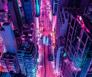 city, light, and neon image