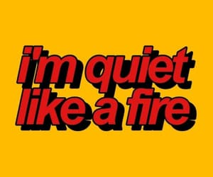 red, fire, and quotes image