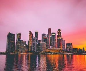 pink, city, and landscape image