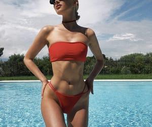 elsa hosk, model, and swimwear image