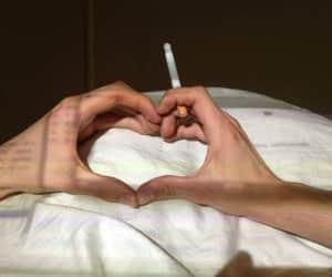 heart and smoke image