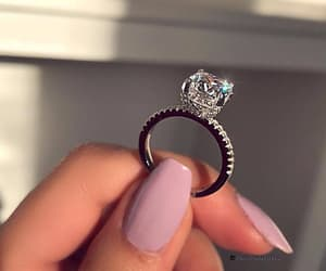bright, couple, and ring image